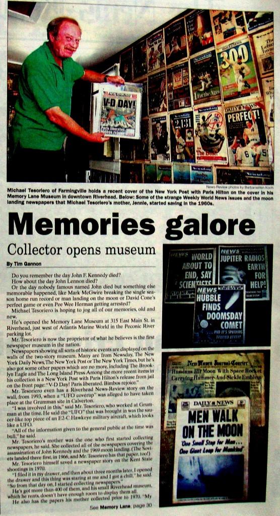 Michael Tesoriero Newspaper