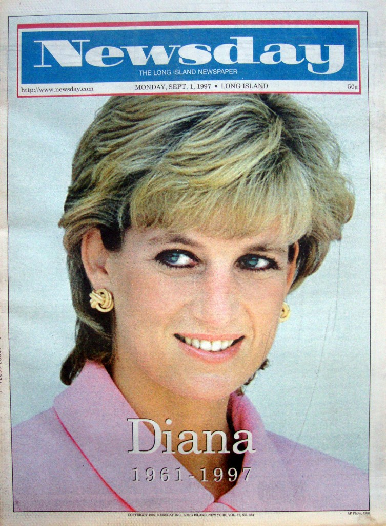 Princess Diana Obituary Newspaper